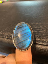 Load image into Gallery viewer, Labradorite Ring Sterling Silver size 9