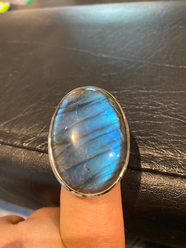 Labradorite Ring Sterling Silver size 9