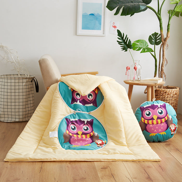 Multifunctional cartoon pillow quilt Sofa cushion Dual-use office nap quilt plush cushion blanket tourism lumber pillow