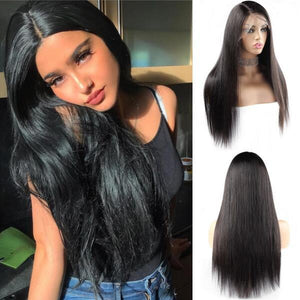 Ishow 4x4 Lace Closure Wig 100% Unprocessed Brazilian Straight Virgin Remy Human Hair Wigs