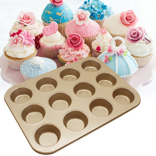 12-piece Ma Fen non-stick cake baking tray