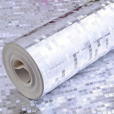 Gold foil mosaic waterproof wallpaper