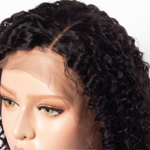 Curly Bob Wig Lace Front Wigs Brazilian Wigs Kinky Curly-180%Thick