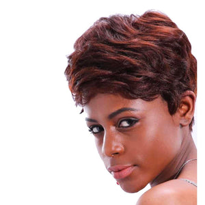 Synthetic Fashion Winered Short Curly Hairstyle Wig