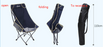 Extension back folding chair