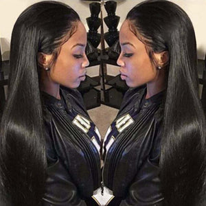 Straight 360 Lace Frontal Wigs 150% Density Human Hair Wigs For Black Women