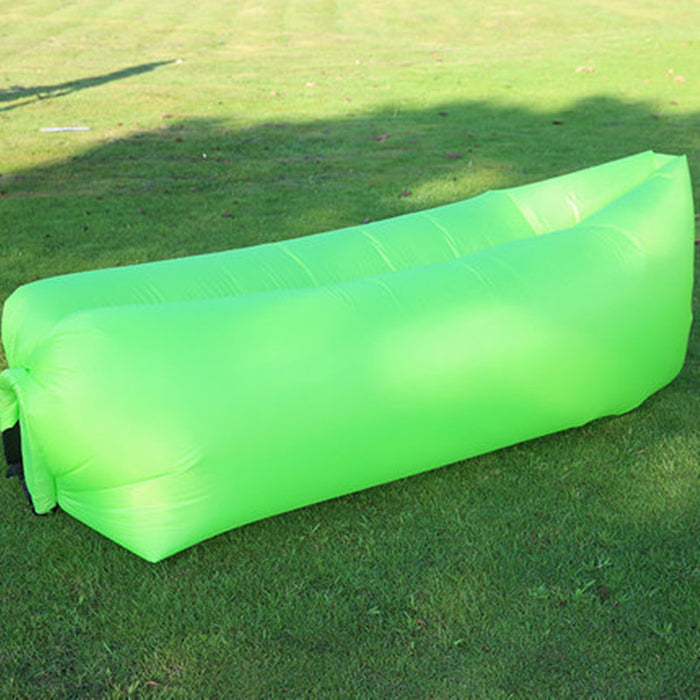 Inflatable lazy sleeping bag