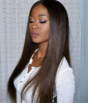 STRAIGHT HAIR LACE WIG Brown Black Blonde Brown Mixed Gold  $28.99