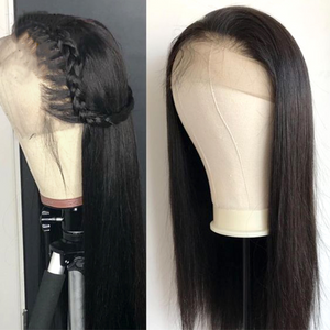January 2019 Lace Front Lace Hair Wigs Brazilian Straight Lace Wig Black