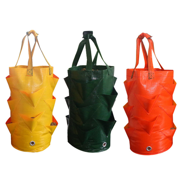 3 Gallons Strawberry Planting Bag Gardening Flower Planting Bag Gardens Hanging Bag Tool Garden Supplies New