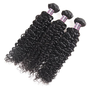 Ishow Hair Virgin Peruvian Curly Hair Weave 3 Bundles Natural Color