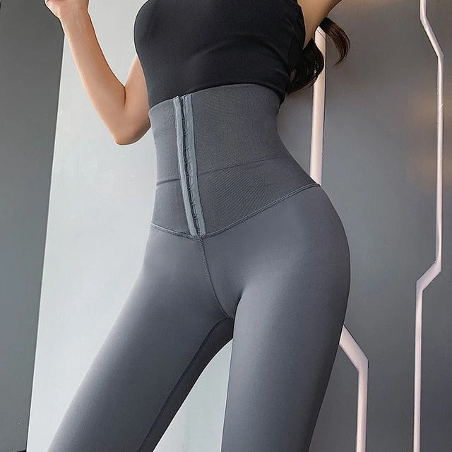 High Waisted Compression Leggings - Polonium Co.