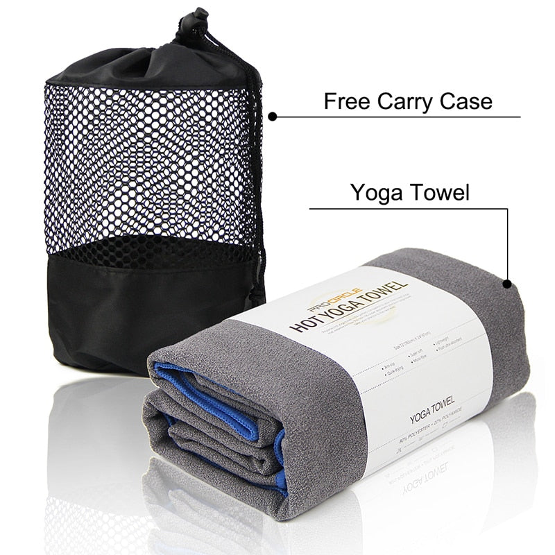 Yoga Towel with 4 Corner Pockets - Polonium Co.