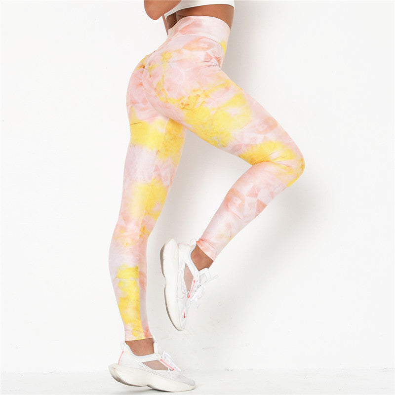 Tie Dye Workout Leggings - Polonium Co.