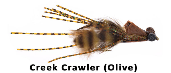 Creek Crawler Hada's (Olive) #4 - Flytackle NZ