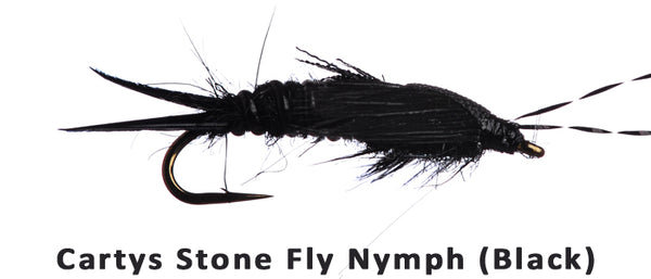Cartys Stone Fly Nymph (Black) #12 - Flytackle NZ