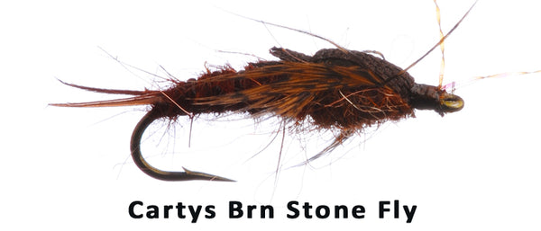 Cartys Stone Fly Nymph (Brown) #12 - Flytackle NZ