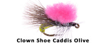 Clown Shoe Caddis olive #16