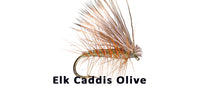Elk Hair Caddis (olive) - Flytackle NZ