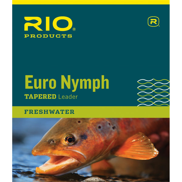 RIO Euro Nymph Leader w/tippet ring 11ft 0x/2x