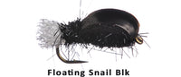 Floating Snail (Black) #14 - Flytackle NZ