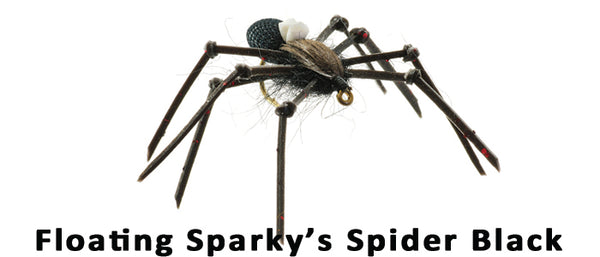 Sparky's Floating Spider (black) - Flytackle NZ