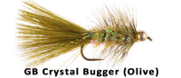 Gold Bead Crystal Bugger (Olive) - Flytackle NZ