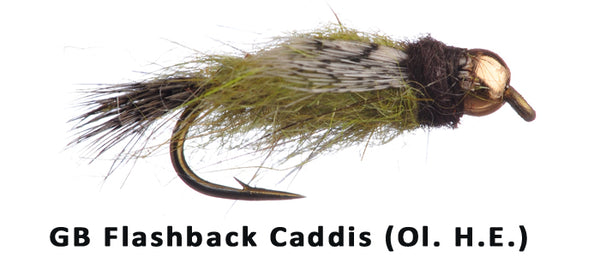 GB Flashback Caddis (Olive/Hares Ear) - Flytackle NZ