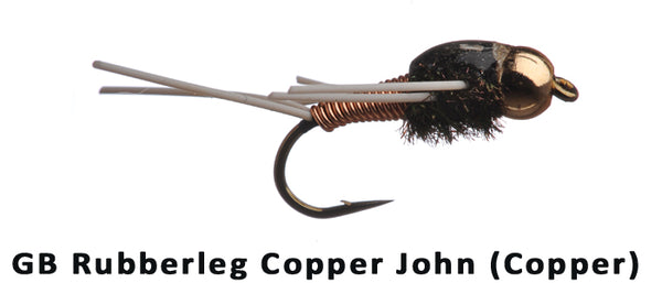 GB Rubberleg Copper John (Copper) #12 - Flytackle NZ