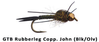 GTB Rubber Leg Copper John (Black/Olive) #12 - Flytackle NZ