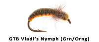 GTB Vladi's nymph (Green/Orange) #12 - Flytackle NZ