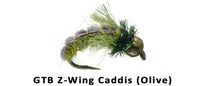 GTB Z-Wing Caddis (Olive) #14 - Flytackle NZ