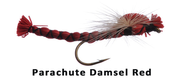 Parachute Damsel (red) #12 - Flytackle NZ