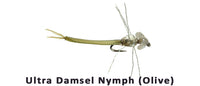 Ultra Damsel nymph (Olive) 14 - Flytackle NZ