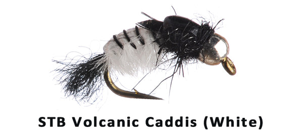 STB Volcanic Caddis (White) - Flytackle NZ