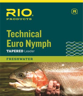 RIO Technical Euro Nymph leader w/ tippet ring 14ft
