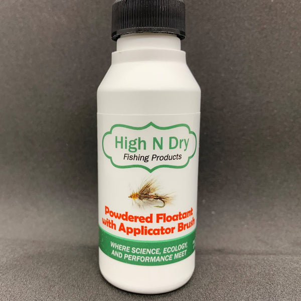 High N Dry Powdered Floatant w/Applicator Brush - Flytackle NZ