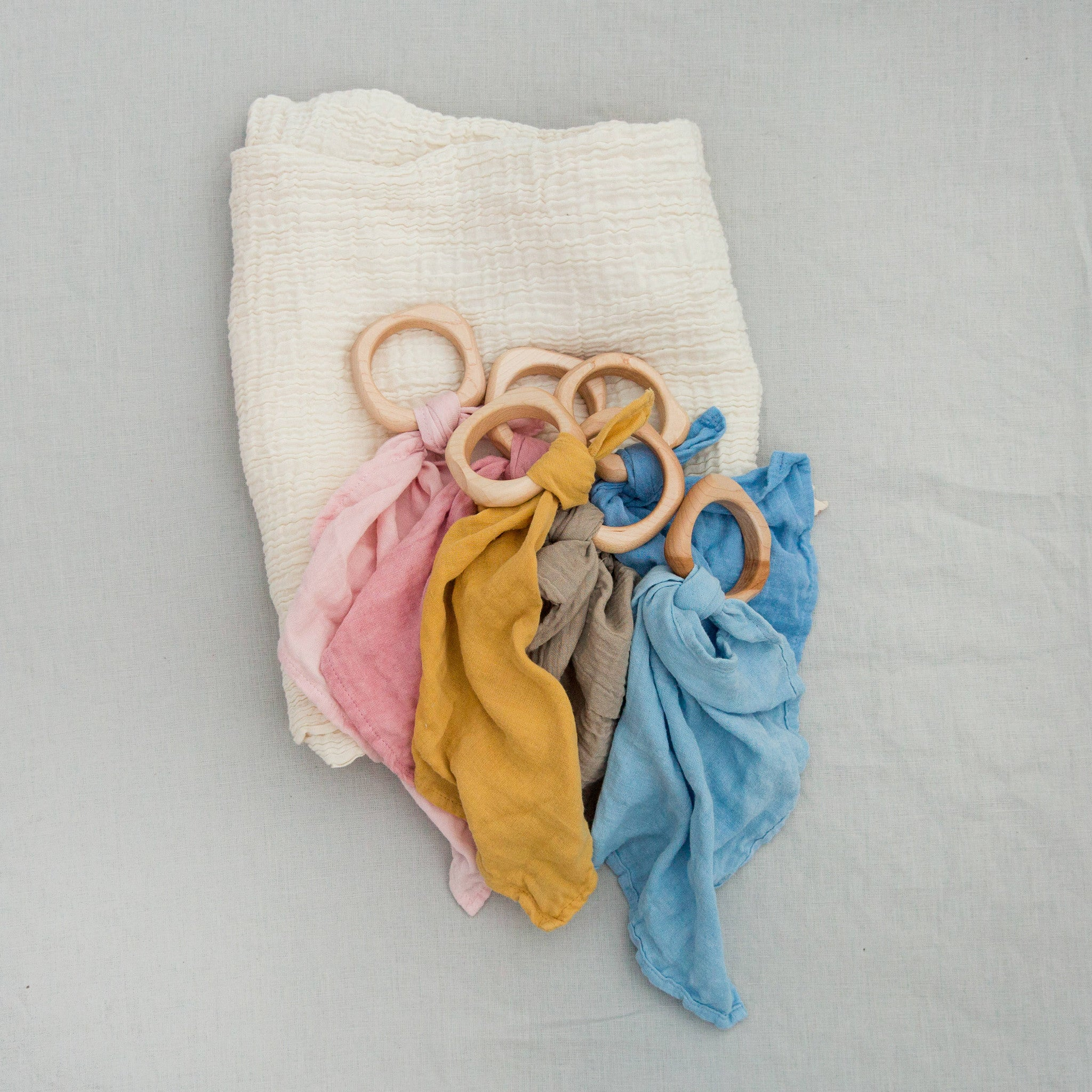 teether + swaddle bundle