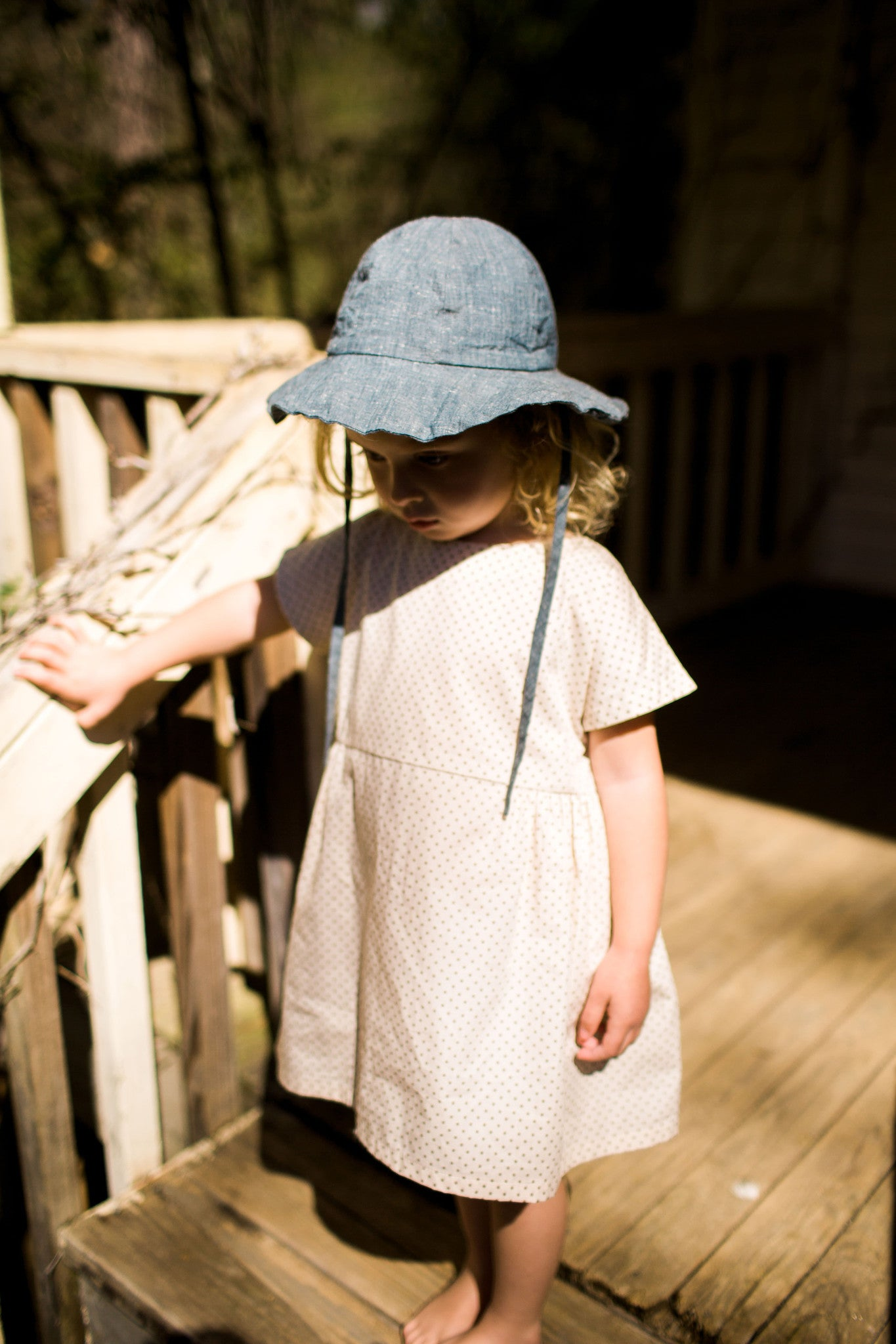 sun hat / slub denim