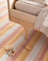 hand-loomed rug / multi-stripe
