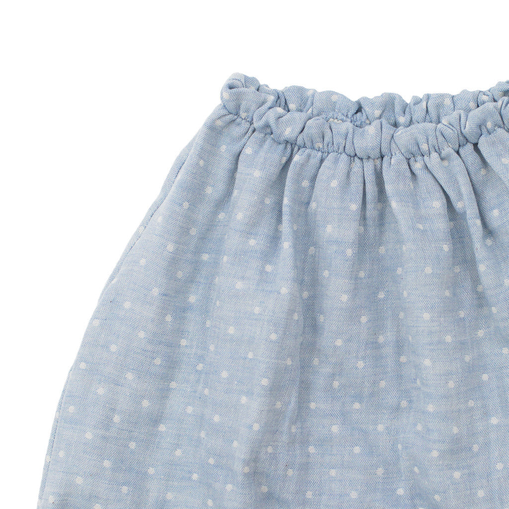 dotted harem pant / baby blue - cloth only