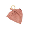 organic teether blankie / blush - cloth only