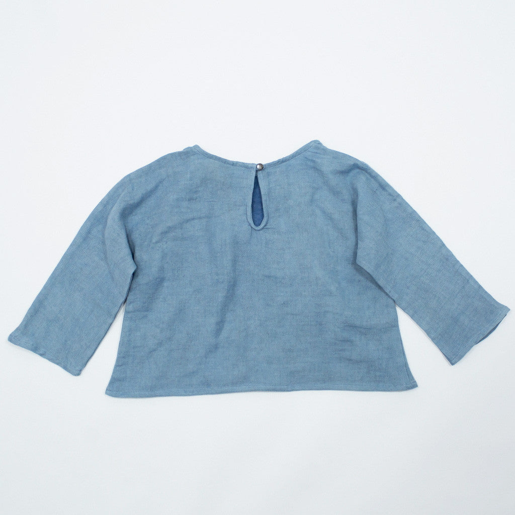 diamond dolman / indigo blue