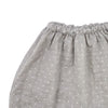 dotted harem pant / light gray