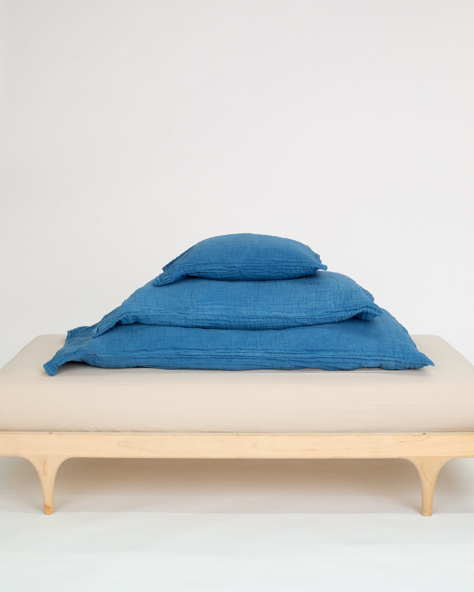 indigo pillowcase / 2-layer gauze