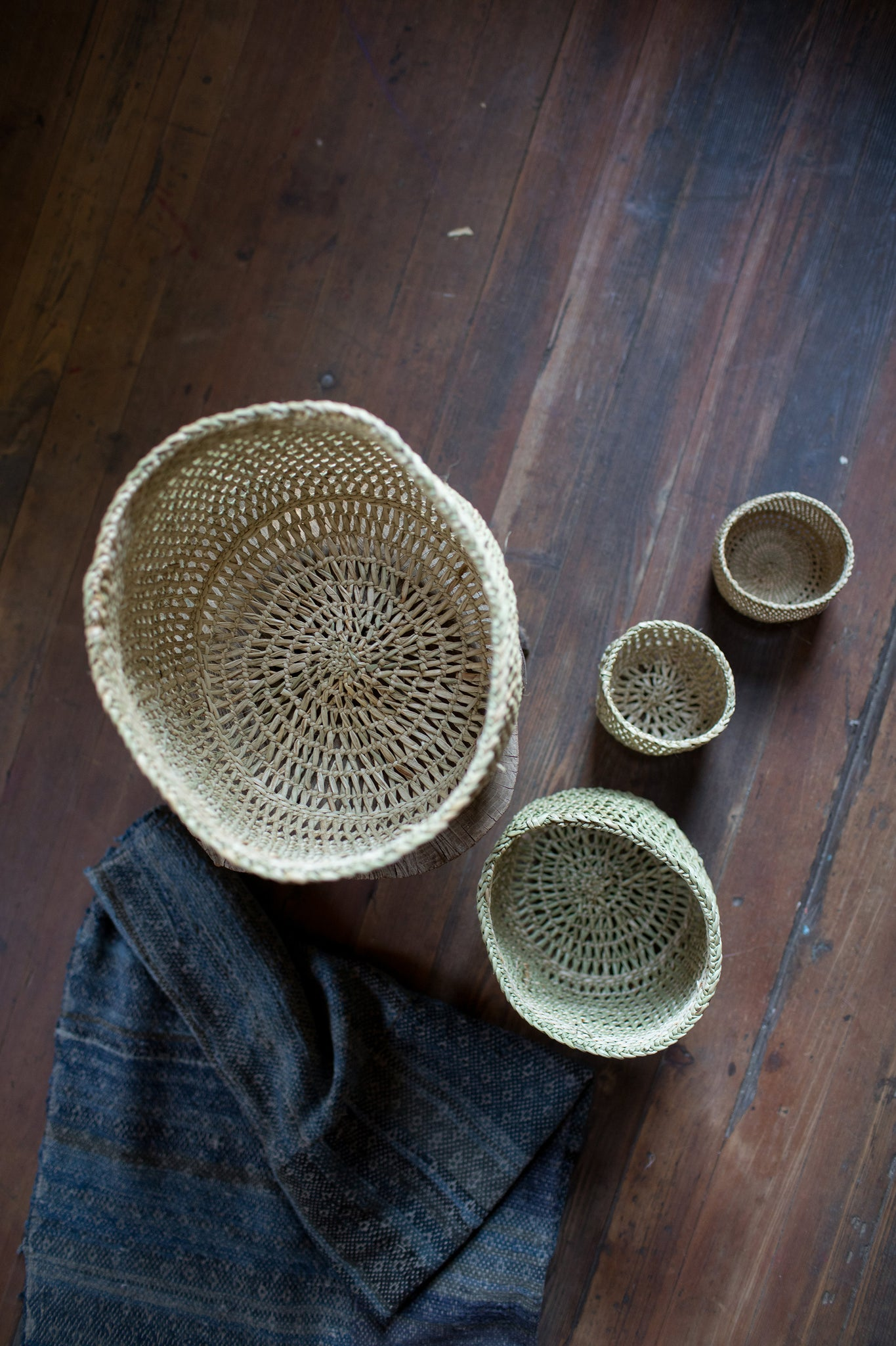 iringa basket / natural open weave