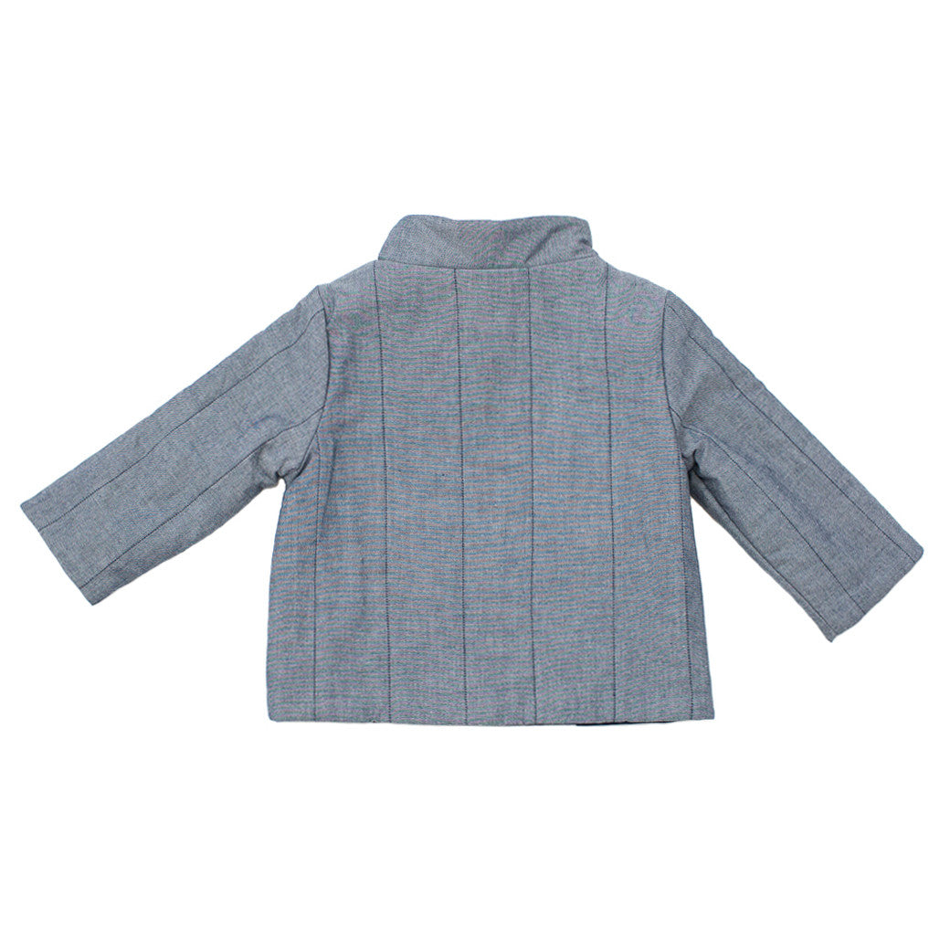 quilted chambray coat