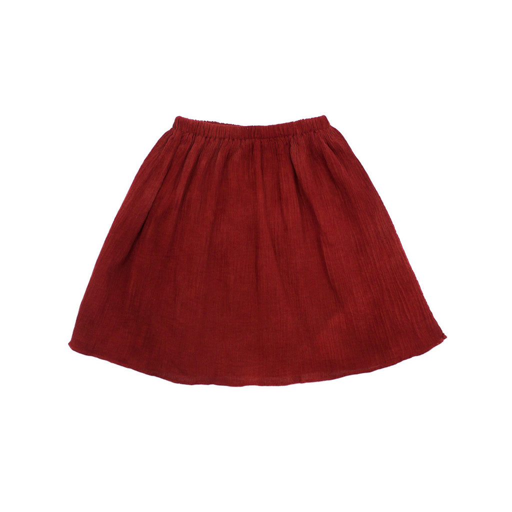 gauze skirt / ruby
