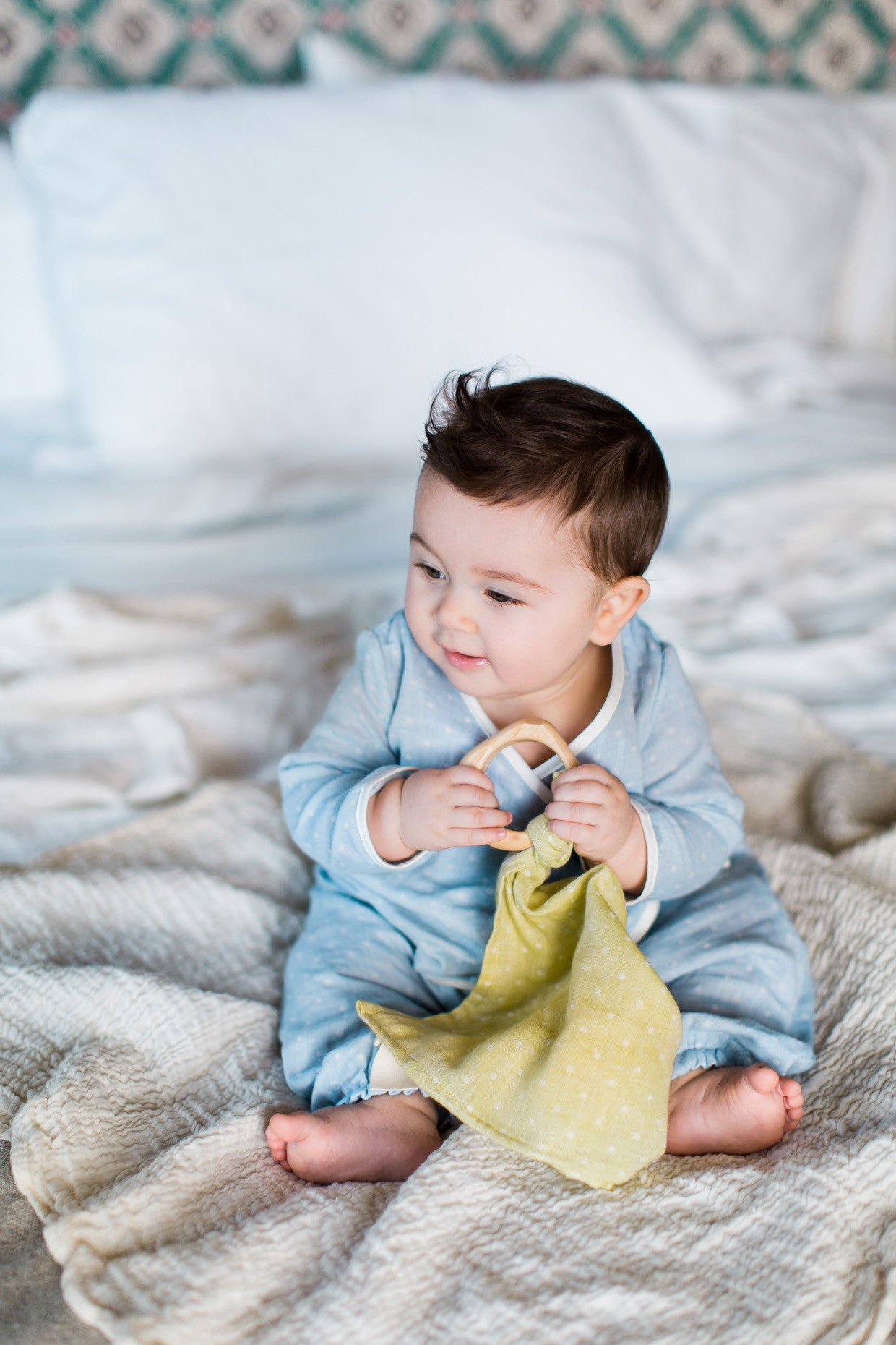 organic teether blankie / undyed - cloth only