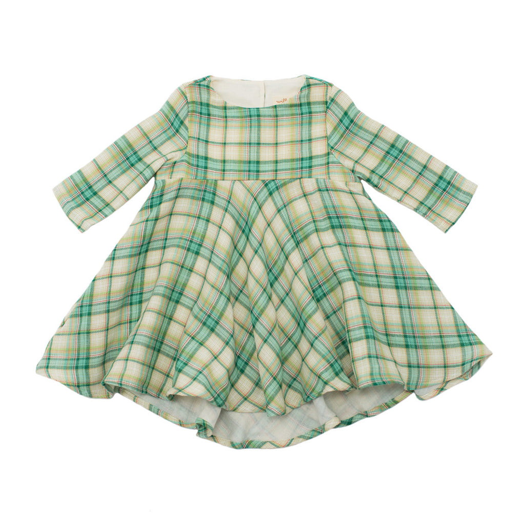 plaid gauze dress  / wintergreen